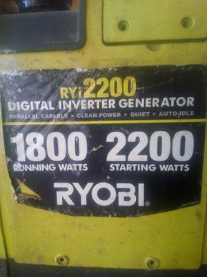 Ryobi generator 200 OBO for Sale in Detroit, MI