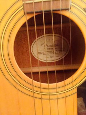 Fender Acoustic/ 'Electric' amplified Guitar for Sale in Raleigh, NC
