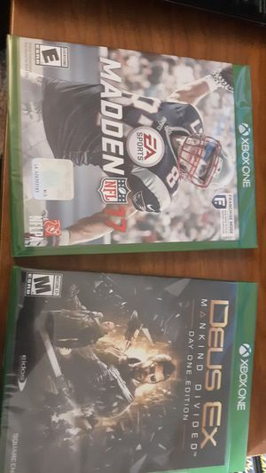 Two Xbox one games Madden & DEUS EX for Sale in Columbus, OH