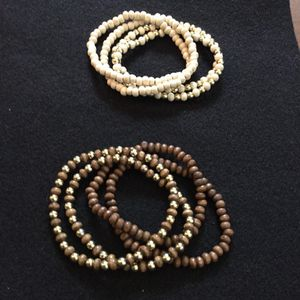 Wood round stretch beaded bracelets. Sold as a set for Sale in Philadelphia, PA