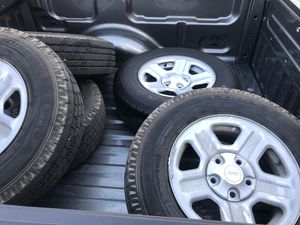 Jeep wheels and tires almost new! Cooper HT3 discoverers 225-75r16 obo for Sale in San Antonio, TX