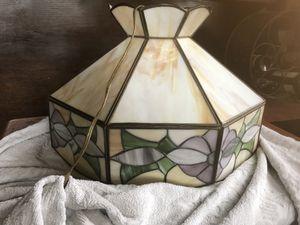 Vintage slag glass flower light for Sale in Alexandria, VA