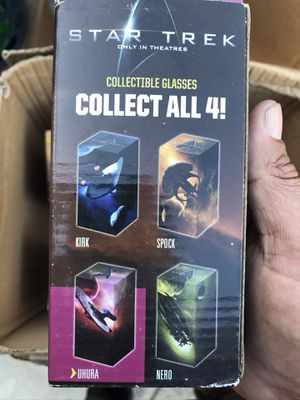 star trek collectible glass cups for Sale in Los Angeles, CA