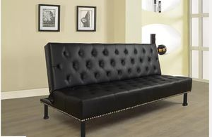 Black leather Futon for Sale in Puyallup, WA