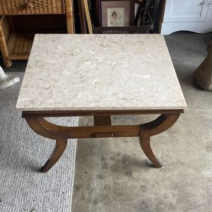 Vintage Marble Side End Table Bronze Accents Bend Legs 70s Art Deco for Sale in La Crescenta-Montrose, CA