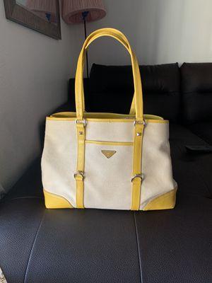 Authentic Prada leather Canvas tote bag for Sale in Sacramento, CA