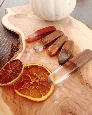 Handmade Rustic Black Walnut, Padauk, or Red Cedarwood and Epoxy Pendants for Sale in Palm Bay, FL