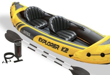 Intex Explorer K2 Kayak, 2-Person Inflatable Kayak for Sale in Vancouver,  WA