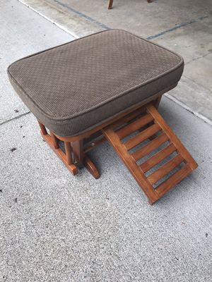 Shermag gliding rocking nursing stool with wood pullout for Sale in Tacoma, WA