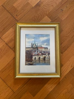 Antique Painting of European City for Sale in Doral, FL