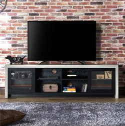 """72"""" TV Stand in Black And Gray Finish for Sale in Ontario,  CA"""