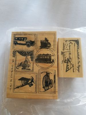 Vintage travel themed rubber stamp set for Sale in Chicago, IL