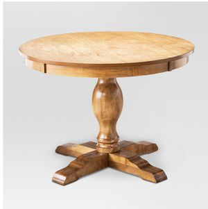 "42""W x 30"" H pedestal round dining table new still in box sturdy wood apartment size for Sale in San Diego, CA"