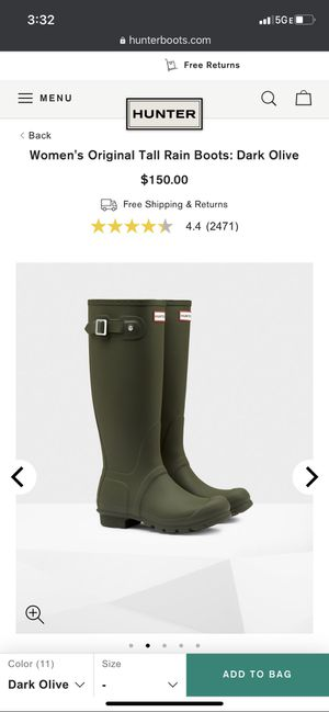 Hunter rain boots for Sale in Taylor, MI