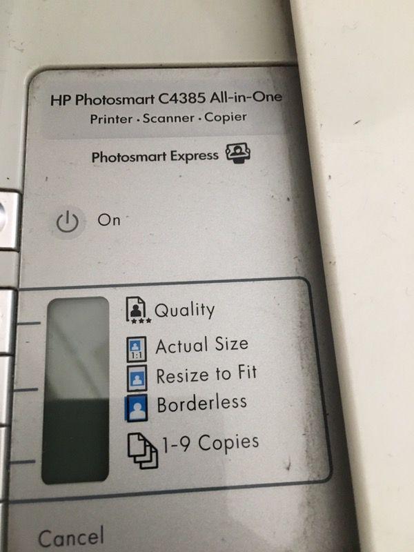 HP Photosmart C4385 All-in-One: Printer Scanner Copier