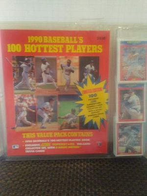1990 Baseball book and 100 cards for Sale in Grove City, OH