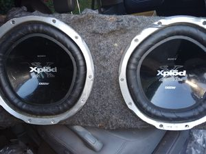 2 12 inch Sony subwoofer box for Sale in Southampton Township, NJ