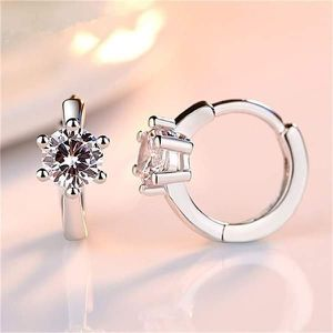 (FREE SHIPPING) Brand New Diamond Round Moissanite Hoop Earrings Woman's Jewelry Wedding Band for Sale in Columbia, SC