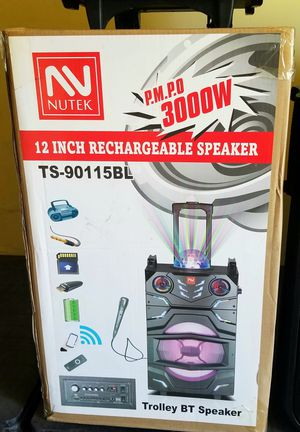 """12"""" bass rechargeable party speaker. Bluetooth. FM radio. Microphone included. Brand new. for Sale in Miami, FL"""