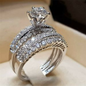 *HOLIDAY GIFT** 2 PC White Topaz Engagement Wedding Ring Set SZ 6 - 12 * See My Other 600 Items* for Sale in Palm Beach Gardens, FL