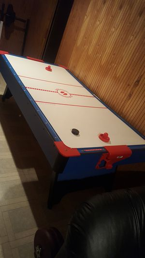 Electric Blue and Red Air Hockey Table for Sale in Bowie, MD