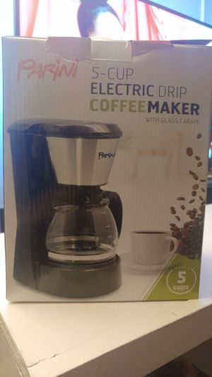 Parini 5 cup coffee maker for Sale in Hanover, MD