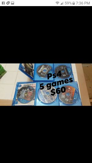 5 video games for PS4 all for $60 for Sale in Houston, TX