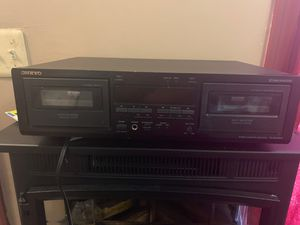 Onkyo TA-RW344 Dual Stereo Cassette Tape Deck Player. Tested/Works Great. In Great Condition. Comes with power supply. for Sale in Alexandria, VA