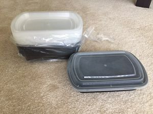 11 meal prep containers: microwave / dishwasher/ freezer safe / reusable for Sale in Rockville, MD