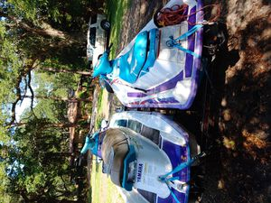 Selling my 1997 yamaha waverunner 760 twin carb and 1998 Polaris slt 780 jet ski. for Sale in Bacliff, TX