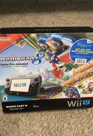 Black Nintendo Wii U Console 32GB with Super Mario 3D World and Mario Kart for Sale in Gilbert, AZ