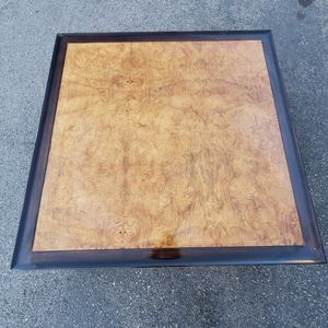 Mid-Century Ming Style Square Burlwood and Lacquer Coffee Table - MINT CONDITION!! for Sale in Santee, CA