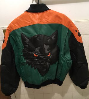 Leather wolf motorcycle jacket, large for Sale for sale  Brooklyn, NY