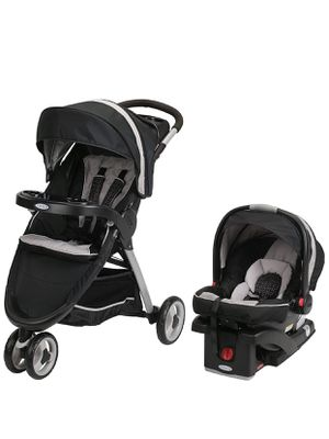 Graco FastAction Fold Sport Travel System | Includes 3-Wheel Stroller and Infant Car Seat, for Sale in Bellevue, WA