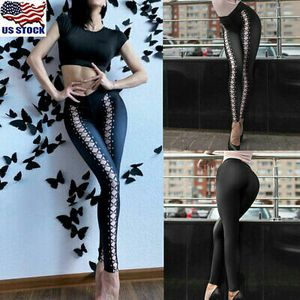 Women Stretch High Waist Lace Up Leggings Bandage Pencil Pants Slim Fit Trousers for Sale in Orlando, FL