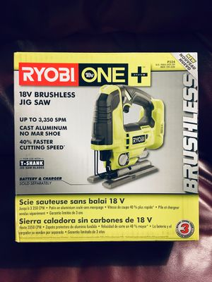 SEALED Ryobi P524 ONE+ 18V Brushless Jigsaw Cordless Body Only for Sale in Chapel Hill, NC