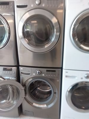 Lg washer and gas dryer used good condition 90days warranty for Sale in Mount Rainier, MD