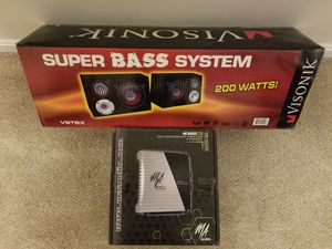 **Speaker and Amplifier Set** for Sale in Chantilly, VA