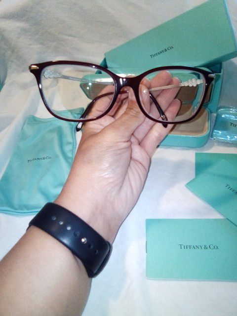 Tiffany & Co TF 2133-B-F 8003 Burgundy Eyeglasses Frame 53-16-140 Italy Pre-owned Excellent Condition