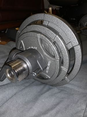 35LB WEIGHT PLATES WITH CURL BAR for Sale in Manassas, VA
