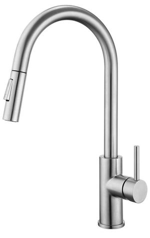 Brand new! Kitchen Faucet with Pull Down Sprayer Single Handle Stainless Steel Faucets for Kitchen Sinks with Deck Plate, Brushed Nickel for Sale in Doral, FL