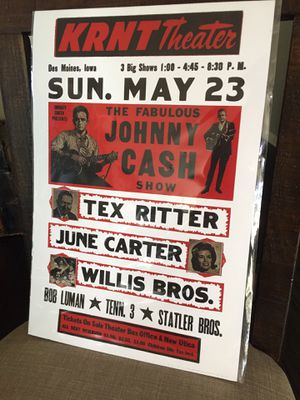 "New JOHNNY CASH reproduction 12 x 18"" cardstock poster for Sale in Eastvale, CA"