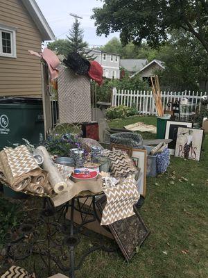 Burlap , metal tins, runners etc for Sale in Detroit, MI