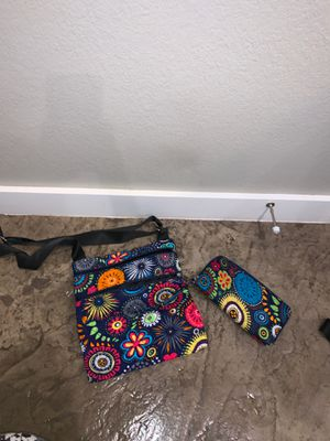 Colorful purse with matching wallet for Sale in Tuscola, TX