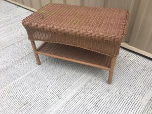 Wicker side table for Sale in Lawson, MO
