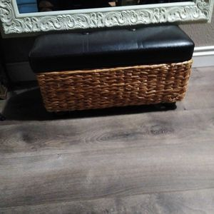 Ottoman 22 Wide 12 Higt 12 Deep They Open For Extra Storage for Sale in Bonney Lake, WA