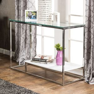 Glass modern console table for Sale in Las Vegas, NV