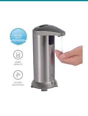 Touchless Stainless Steel Automatic Soap Dispenser, IR Infrared Motion Sensor Hand Free Dish Soap for Kitchen and Bathroom,Waterproof Base for Sale in New York, NY