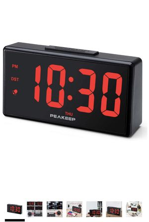PEAKEEP Large Digital Alarm Clock with USB Charger and Nightlight, Dimmers, Big 1 3/4 inches Digits, High Low Loud Alarm Volume, Day, DST, AC Powered for Sale in Hacienda Heights, CA