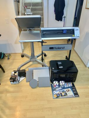 Hotronix heatpress + Epson WF-7720 + Roland GX-24 vinyl cutter for Sale in NAS NORTH ISLAND, CA